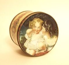 Vintage Tin Box Candy Tin Can Victorian Style with Little Girls Benson's Old Home Kitchens - England - Mid Century by HouseofLucien