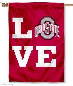 Love OSU Buckeyes House Flag your Love OSU Buckeyes House Flag, flag, banner, and pennant source Buckeyes Football, Ohio State Football, Ohio State University, Ohio State Buckeyes, College Football, Football Memes, Football Season, American Football, Ohio State Crafts