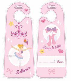 Ballet Lottie doll door hangers for kids #free #printables Download at www.lottie.com/create/