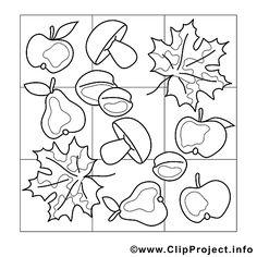 Herbst Vorlage zum Malen fuer Kindergarten