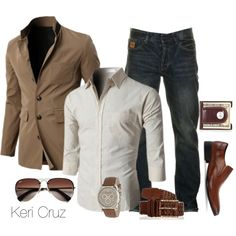 Stylish by keri-cruz on Polyvore featuring Ray-Ban, Doublju, Two Stoned, Kenneth Cole and Emporio Armani