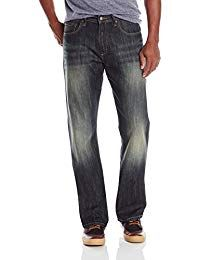 Wrangler Men's Authentics Premium Relaxed Boot Cut Jean, Blue/Black Stretch, x Relaxed jean in bootcut silhouette featuring medium fade and classic five-pocket styling Zip fly with button Loose Fit Jeans, Jeans Fit, Denim Boots, Mens Trends, Vintage Jeans, Stylish Men, Mens Fashion, High Fashion, Fashion Trends
