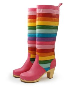 Striped Knee High Boot II {Rainbow Brite Style} I am not sure about those heels but I am sure my daughter would love the rainbow Brite colors Love Rainbow, Taste The Rainbow, Over The Rainbow, Rainbow Colors, Rainbow Heels, Rainbow Things, Rainbow Stuff, Boot Over The Knee, Knee High Boots