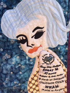 A group of art quilters and textile artists from all over the world create a challenge quilt every two months to a set theme. Textile Artists, Flocking, Html, Disney Characters, Fictional Characters, Textiles, Quilts, Tattoos, Flowers