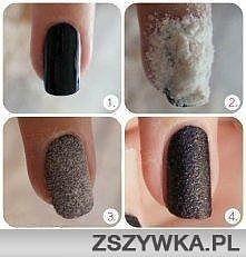 Zobacz zdjęcie Paznokcie.Na świeżo pomalowane paznokcie sypiemy mąkę i czekamy   2 sekundy i...