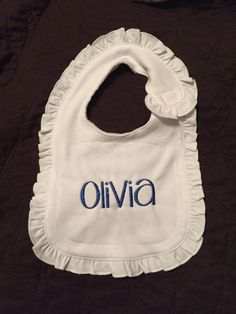 Monogram Baby Bib by YoursTruly10 on Etsy