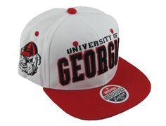 3e142df0aac UGA Hat White Superstar Snapback