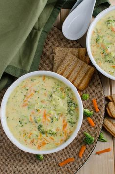 Healthy broccoli soup - prepared using all healthy & clean ingredients. It is also vegan, plant based and a low calorie soup.   watchehatueat.com