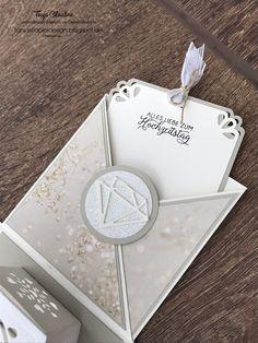 Tanja Claaßen, TanjasPapierdesign, Diamant Hochzeit, Glückwunsch, Explosionsbox, besonderes Geschenk, Fensterschachtel, Thinlits, Stampin up, Basteln, kreative Bastelsachen
