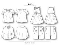 flat drawing apparel - Google Search