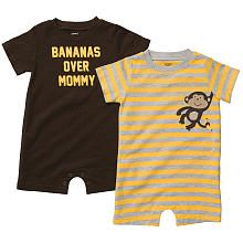 2 pack monkey rompers $11.98