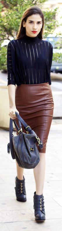 #Leather-#Look #Skirt by Dlegmon