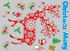 Merry Christmas Glass Wall Decoration Extra Large Removable Home Decor Santa Claus Christmas Tree Sika Deer Snowman Wall Stickers for Shop Window Glass Showcase Sika deer >>> Click on the image for additional details.  This link participates in Amazon Service LLC Associates Program, a program designed to let participant earn advertising fees by advertising and linking to Amazon.com.