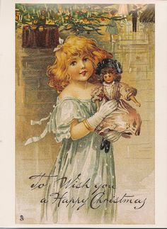 Reproduction Victorian Christmas Postcard