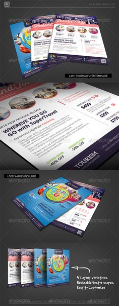 World Travel Tourism Flyer Template - Corporate Flyers