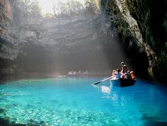 The Greek island of Kefalonia, boasts one of the top 20 Cave Lakes in the world !!! | See more about island weddings, travel accessories and greek islands.
