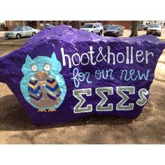 AZ painted on campus rock for new members