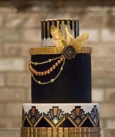 45 Breathtaking Art Deco Wedding Cakes   HappyWedd.com