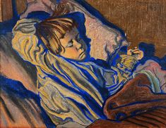 Mietek Sleeping by Stanisław Wyspiański on Curiator, the world's biggest collaborative art collection. Pastel Portraits, Digital Museum, Collaborative Art, Blue Art, Art Google, Art Forms, Les Oeuvres, Art Inspo, Painting & Drawing