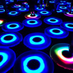 Light installation in #cleveland a couple weeks before #burningman