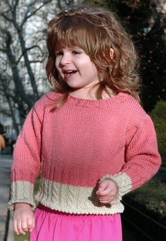 Toddler sweater pattern. Size 2-12