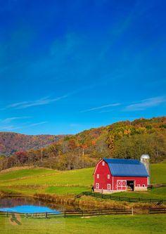 Red Barn in West Virginia