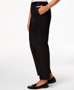 Alfred Dunner In The Limelight Pull-On Straight-Leg Pants - Green 18S