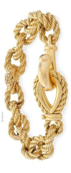 Rosamaria G Frangini | My Golden Jewellery | TJS | Tiffany&Co. Gold Bracelet