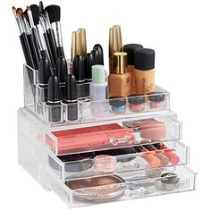 Home Essentials Clear acrylic Jewelry organizer and makeup