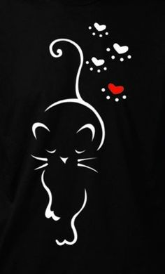 Cat Drawing, Painting & Drawing, Animal Line Drawings, Cat Tattoo Designs, Black Cat Art, Fancy Cats, Cat Quilt, Rock Painting Designs, Cat Cards