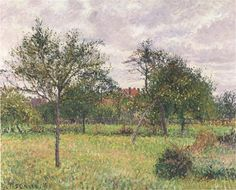 Afternoon in Eragny grey weather, 1900 - Camille Pissarro - WikiArt.org