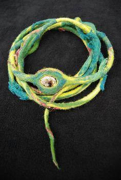 Felted necklace by sassafrasdesign, via Flickr