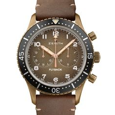 """Back in 2016, Zenith caught the eye of vintage-military-watch aficionados with its release of the Pilot Cronometro Tipo CP-2, an aviators' chronograph that paid tribute to the now-legendary """"Cairelli"""" watch the brand made for Italian Navy and Air Force pilots in the 1960s. This year Zenith followed"""
