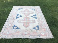 Picnic Blanket, Outdoor Blanket, Handmade Rugs, Handmade Gifts, Medium Rugs, Bohemian Rug, Carpet, Vintage, Home Decor