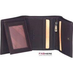 Pierre Cardin - Mens Walle Genuine Italian Leather Trifold Wallet  PC8783 - Black