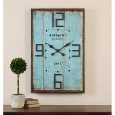 You'll love the Rectangular Blue Wall Clock at Birch Lane - With Great Deals on all products and Free Shipping on most stuff, even the big stuff.