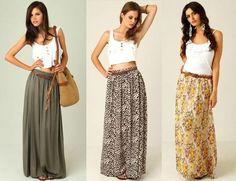 faldas largas de moda 2016 juveniles - Buscar con Google