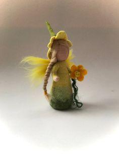 Flower fairyWet  felted. Waldorf. Felted.flower child. by FilzArts
