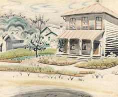 Charles Burchfield (1893-1967) - The Song of the Katydids on an August Morning.