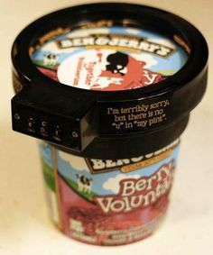Pint-top combination lock from Ben & Jerry's. #whydidntithinkofthat