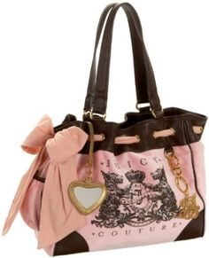 Juicy Couture Scottie Bling Daydreamer Pink Nardels Tote Bag