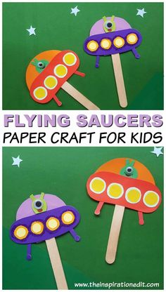 Spaceship Alien Craft For Kids · The Inspiration Edit, Raumschiff Alien Craft für Kinder · The Inspiration Edit, … Easy Crafts For Kids, Craft Activities For Kids, Toddler Crafts, Preschool Crafts, Craft Kids, Outer Space Crafts For Kids, Creative Crafts, Summer Crafts For Preschoolers, Paper Craft For Kids