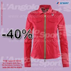 #AngoloSaldi -40% donna Jeanne Plus #KWAY. Gigastore Via G. Cardano 74 - 06.6574.6565