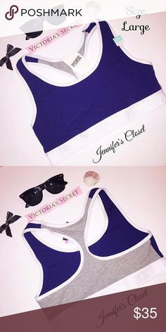 {Victoria Secret PINK} logo two-toned sports bra ✨Welcome!✨ Bundles available  ✨Smoke/Pet free household I ship Monday-Friday same/next day unless it's a national holiday. ✨Reasonable offers welcome, use the offer button!  All items are 100% Authentic and bought from Victoria Secret stores.    ❌NO TRADES ❌NO HOLDS ❌NO PP PLEASE DO NOT RATE ME BASED UPON FIT/SIZE OF YOUR ITEM.   ⚡️PURCHASE AT YOUR OWN RISK  PS: All my items are New with tags, or New in packaging. Please keep that in mind with…