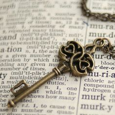 Bronze Key Necklace by ragtrader on Etsy
