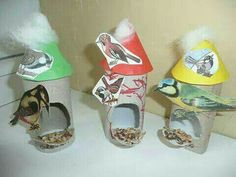 bird's nest making from toilet paper Ant Crafts, Insect Crafts, Fish Crafts, Arts And Crafts, Winter Crafts For Kids, Summer Crafts, Art For Kids, Bird Theme, Art N Craft
