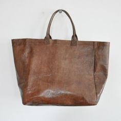 Le Vestiaire De Jeanne TOTE BAG, brown leather