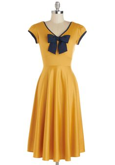 Stop Staring! All That and Demure Dress in Daffodil | Mod Retro Vintage Dresses | ModCloth.com