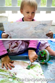painting with Edible Kool-Aid Paint