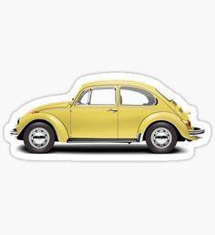 1972 Volkswagen Beetle - Saturn Yellow Sticker